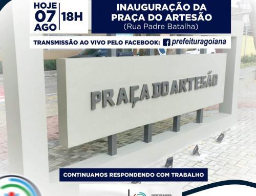 Inauguração da Praça do Artesão , hoje (07) às 18h. Acompanhe pela transmissão ao vivo pelo nosso Facebook.